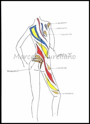 CROQUI - Arte do corpo - Vista de trás