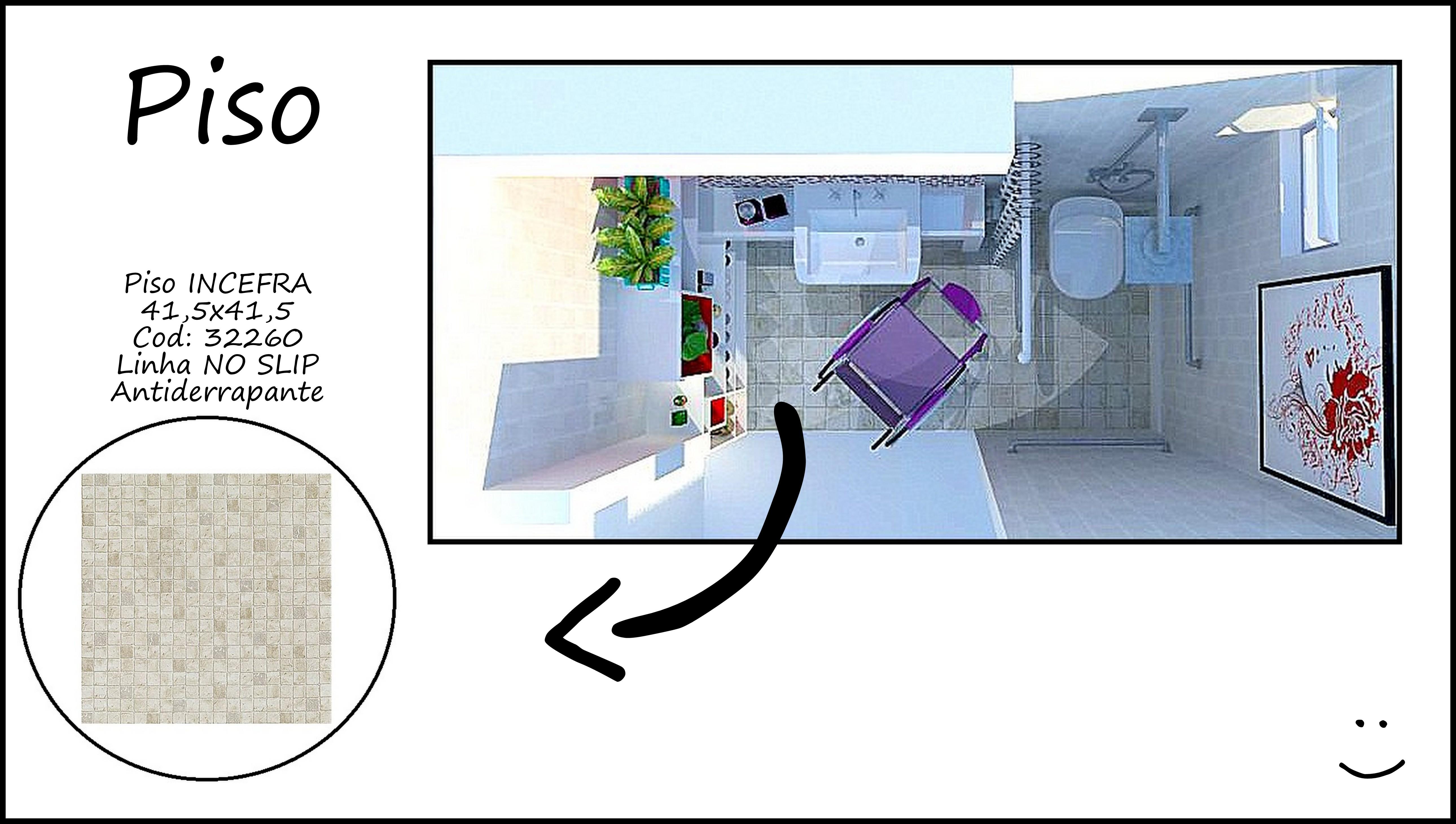 escolhido foi um antiderrapante e ele foi aplicado em todo o banheiro #7C2526 5160x2920 Banheiro Acessivel Planta Baixa