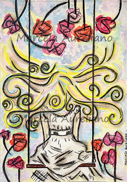 Título: As Flores mais Belas Técnica: pastel oleoso e aquarela em papel levemente granulado 140g (original) - Tipo: ilustração impressa - Formato: 21x30cm – original (podendo ser maior ou menor a depender da escolha do cliente) - Material: papel couché matte 150gr.