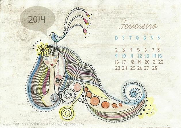 Calendário de fevereiro